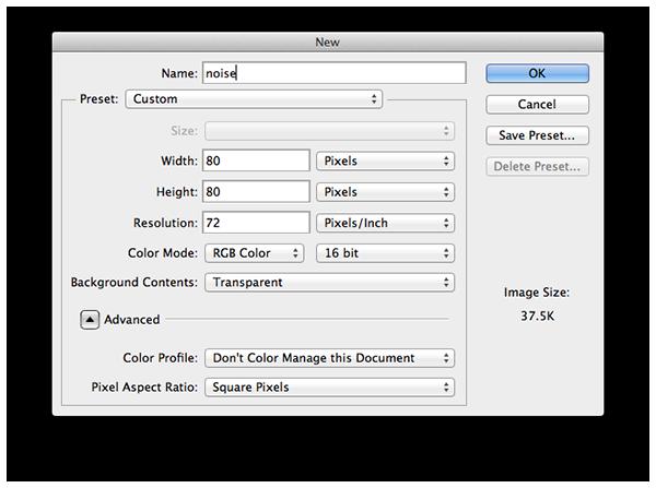 Create new Photoshop file